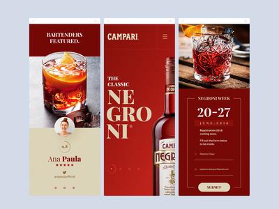 Campari Negroni - Mobile