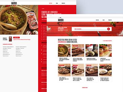 Perdigão - Na Brasa dribbble ux ui design web design web layout webdesign behance interface design ui