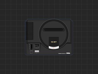 Sega Mega Drive Illustration sega genesis mega drive illustration illustration mega drive 1 sega mega drive megadrive mega drive sega