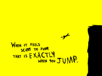 When It Feels Scary To Jump