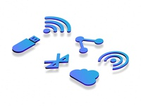 Connectivity Isometric Icons