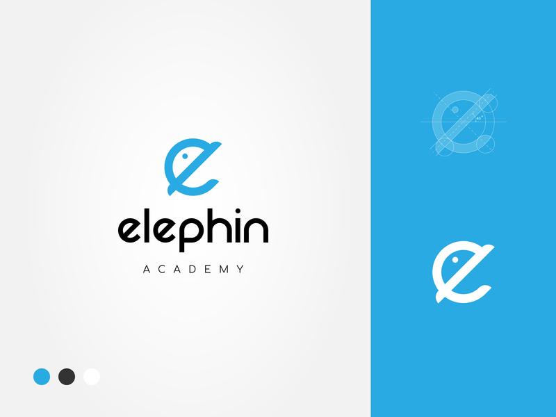 Elephin Logo branding icon typography vector concept design illustrator logotype logo design logo