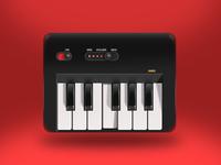 Realistic Style Illustration - Piano