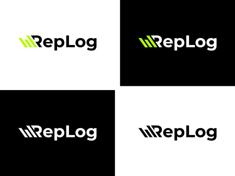RepLog logo colors typography minimal logo branding vector design