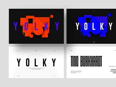 Portfolio v01–04 desktop new orange blue white black ui landingpage homepage design portfolio