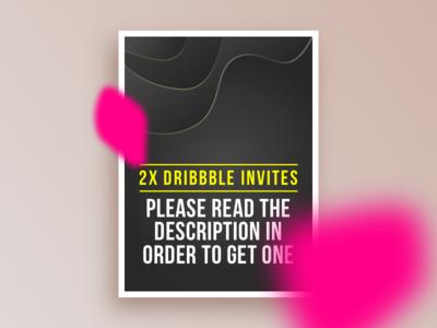 2x Invites Giveaway free community dribbble invite invitation giveaway
