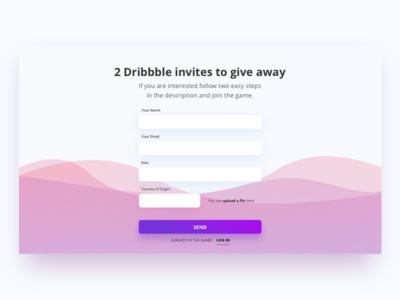 2x Dribbble Invites send form yolky dribbble invite