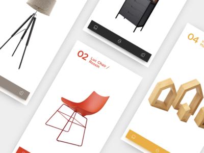 Battersea buy app mobile red black menu furniture