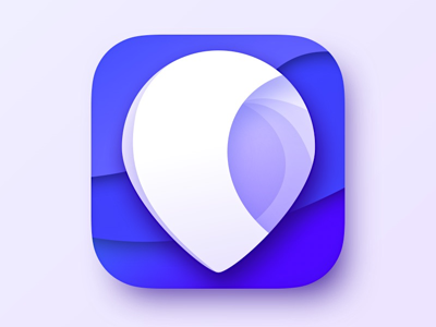 Icon #1 pin blue symbol icon