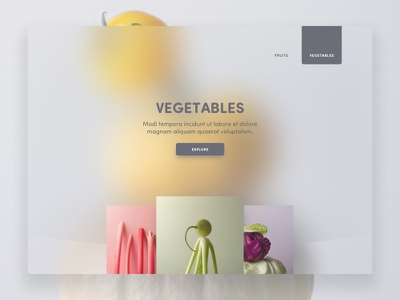 veggies menu landing yellow grey transparent fruit