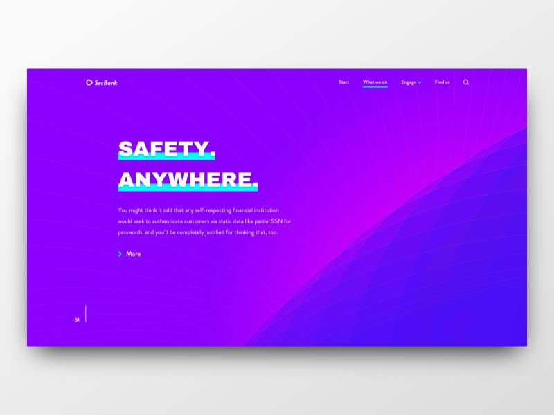 SecBank ui web landing purple security bank