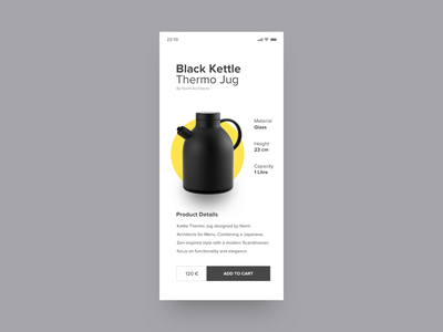 Kettle Jug buy details button price iphone product minimal white