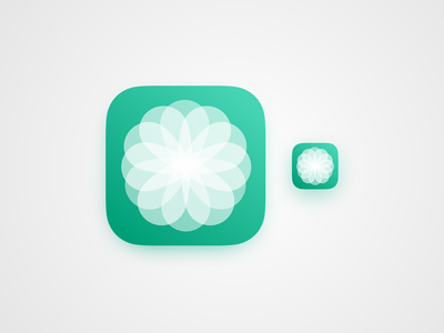 Blüte ios white green flower icon