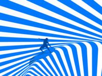 Surfing ocean surfing blue print strip 2d .
