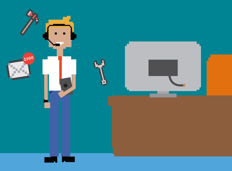 pixel office dude branding gaming 2000s pixelared pixel itcrowd graphic illustration design graphics graphicdesign vector illustrator