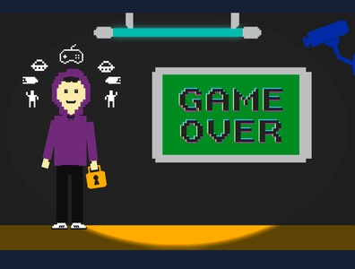 GAME OVER PALS series retro pixelated pixel characters characterdesign graphic illustration design graphics graphicdesign vector illustrator hackers annonymous hack hacker gameover