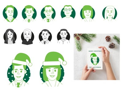 Avatars I created for some Christmas cards for one of our client