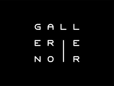 Gallerie Noir art noir gallerie gallery typography