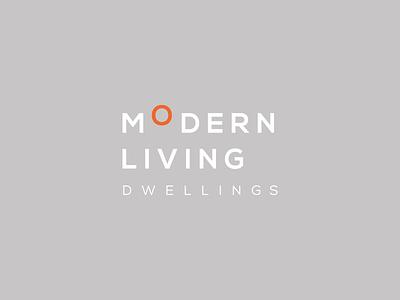 Modern Living Dwellings logotype type typography modernism design home builder architects dwelling living modern