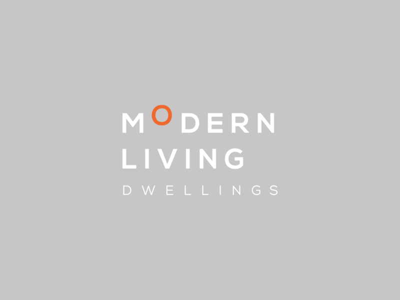 Modern Living Dwellings logotype type typography modernism design home builder architects dwelling living modern