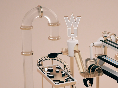 WUA Machine 3d animation studio animation 3d animation factory idea renders machine c4d 3d