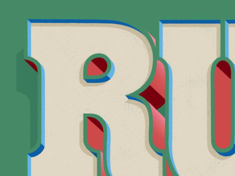 Run Detail ipad lettering run letter goodtype typism type custom type hand lettering lettering