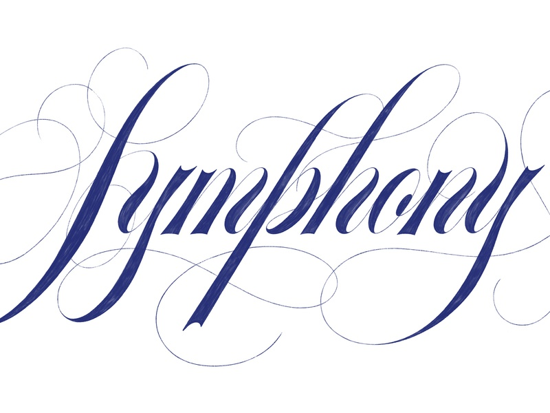 Symphony Sketch lettering sketch ipad lettering ipad sketch script sketch custom type type hand lettering lettering