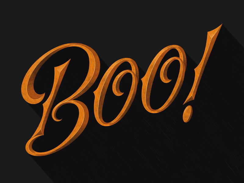 Boo! ipad lettering lettering sketch boo halloween type custom type hand lettering lettering
