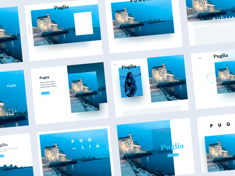 Hero practice inspiration architecture ocean italy brand interface blue web design modular branding web ui modern ux design
