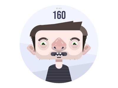 Day 160 quarantine covid character simple clean brand interface blue vector illustration branding ui modern design