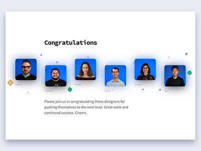 Designer Promotions Announcement! parallax geometric announcement site bright team simple animation motion interface web design brand branding ui modern designer design
