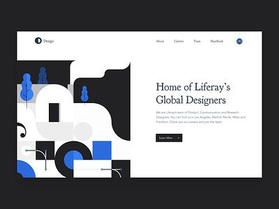 Design Site Concept dark inspiration site designer portrait hero after effects animation motion illustration interface web web design brand blue branding ux ui modern design