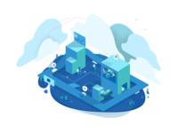 DXP Cloud Illustration