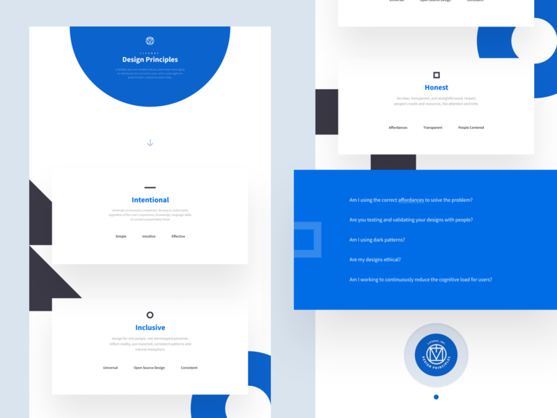 Design Principles typography branding interface blue web design web modular modern ui design ux