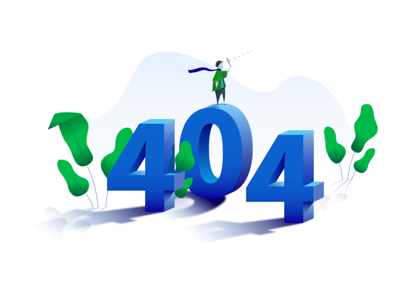 404 Illustration searching 3d error 404 error 404 page 404 vector illustration simple clean brand branding blue web design web modern ui design ux