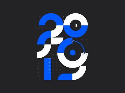 2019 modern branding brand clean liferay illustration ui design typography black blue report annual 2019