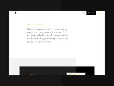 Design Gives Back figma webflow brand identity animation interaction visual charity menu uiux brand black interface branding web design modular web ui modern design ux