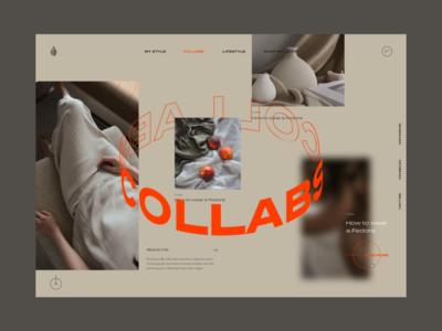 Fashion and lifestyle web design. lifestyle ui influencer blog typography editorial branding design web fashion