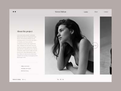 Project page II portfolio site portfolio grid photographer photography design uidesign website web uiux ui blog project