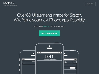RAPPIDLY - Wireframing templates sketch sketch app wireframes presentatio iphone ui ux design