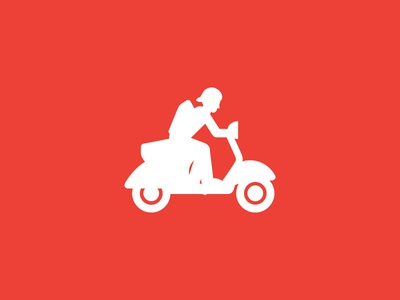Vespa vespa retro illustration icon motorbike
