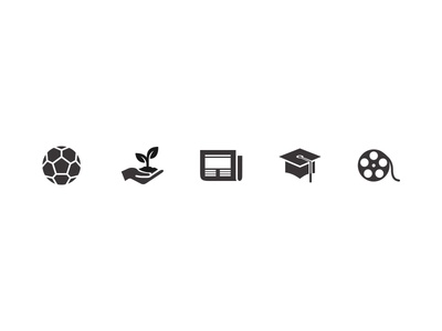 Online Learning icon set lms sport environment news exams education film culture media icons