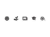 Online Learning icon set