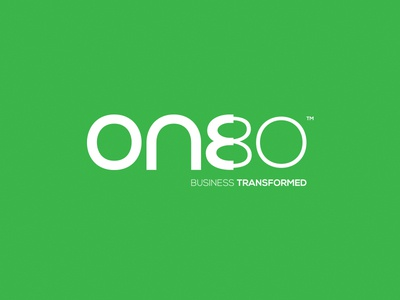 One80 logo business brandmark identity transformation 180 turnaround lean process