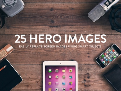 Rappidly Hero Images hero images wood vintage hipster mockups ipad iphone music guitar kindle