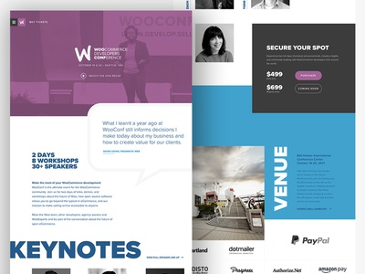 WooConf 2017 direction creative art wooconf conference website ecommerce woocommerce