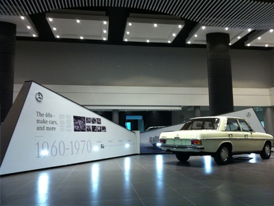 Mbsa Heritage Display Arms display stand cars mercedes-benz history star