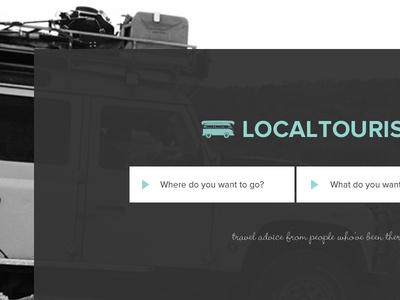 Localtourist ideas travel homepage forms search big buttons simple