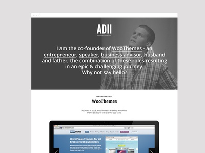 The One Pager slider timeline wordpress one page theme wordpress theme woothemes portfolio
