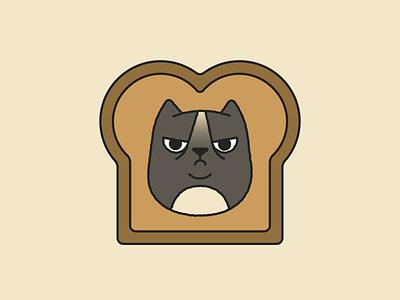Grumpy Cat digital illustration bread cat grumpy cat illustration